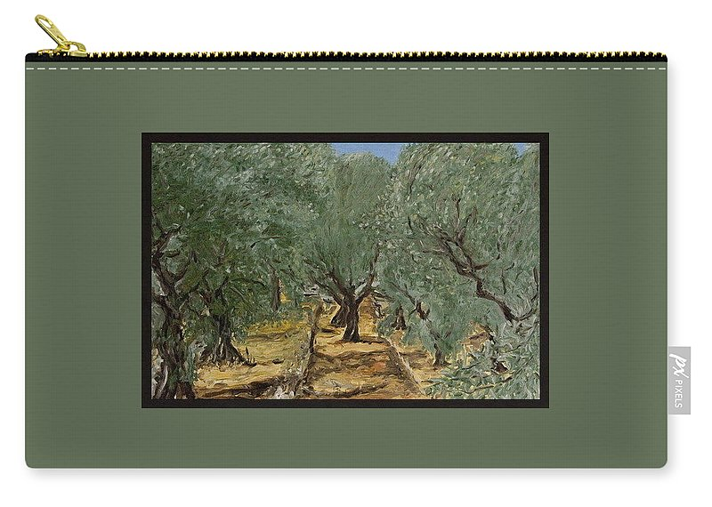 Landscape Carry-all Pouch featuring the painting Olive by Pablo de Choros