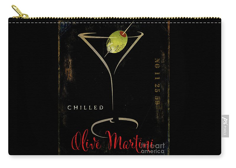 Olive Martini Carry-all Pouch featuring the painting Olive Martini by Mindy Sommers