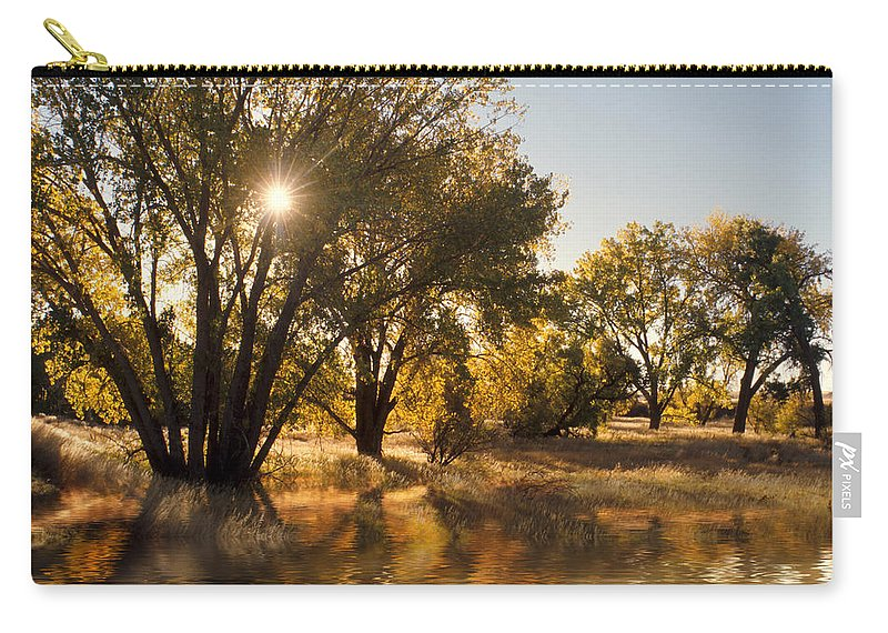 Ftrees Carry-all Pouch featuring the photograph Oliver Sunbursts by Jerry McElroy