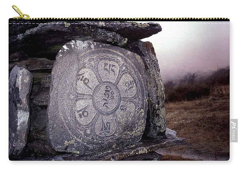 Langtang Carry-all Pouch featuring the photograph Om Mani Padme Hum by Patrick Klauss