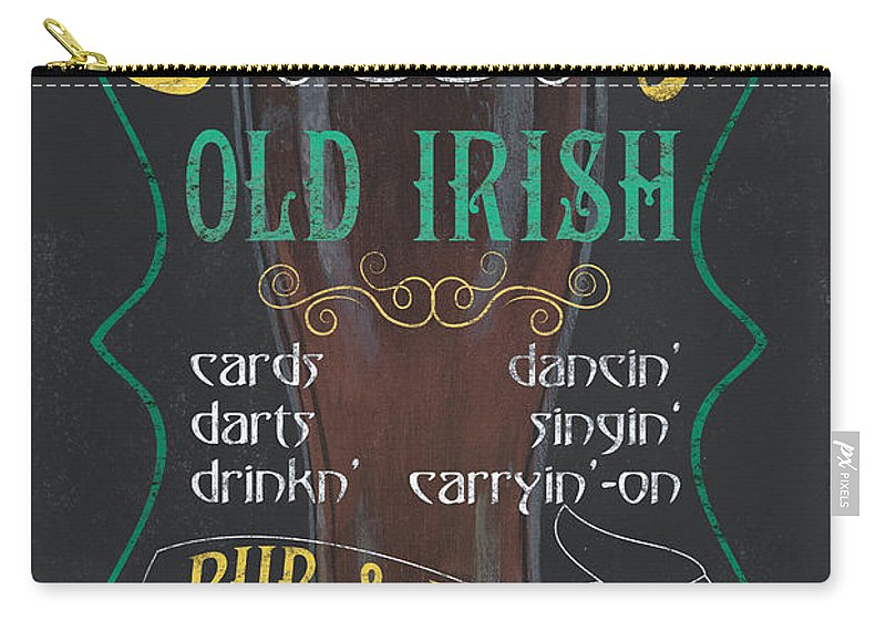 Beer Carry-all Pouch featuring the painting O'malley's Old Irish Pub by Debbie DeWitt