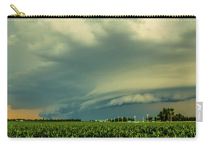 Nebraskasc Carry-all Pouch featuring the photograph Ominous Nebraska Outflow 001 by NebraskaSC