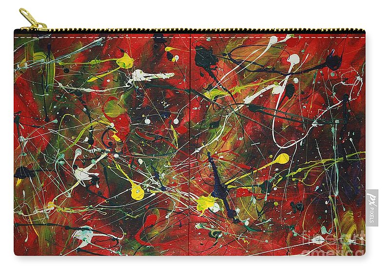 Splatter Carry-all Pouch featuring the painting On A High Note by Jacqueline Athmann