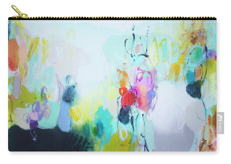 Abstract Carry-all Pouch featuring the painting On A Road Less Travelled by Claire Desjardins