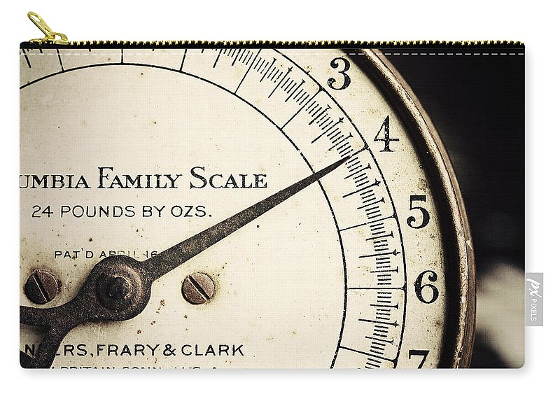 Four Carry-all Pouch featuring the photograph On A Scale Of One To Four by Lisa Russo