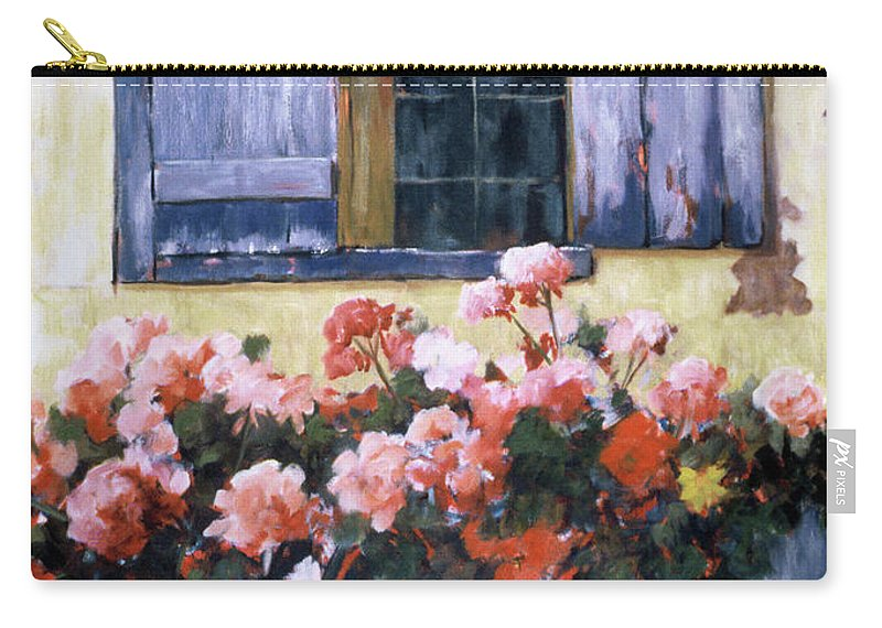 Flowers Carry-all Pouch featuring the painting On A Walk In France by Bet Cummings