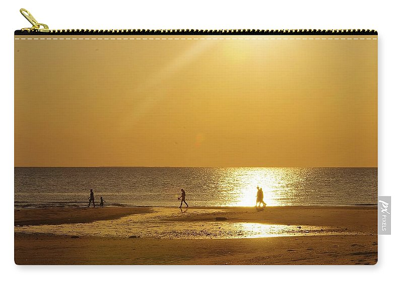 Golden Hour Carry-all Pouch featuring the photograph On Golden River by Trece Smith