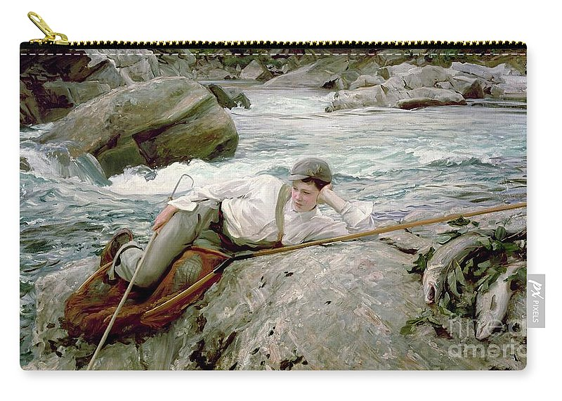 On His Holidays Carry-all Pouch featuring the painting On His Holidays by John Singer Sargent