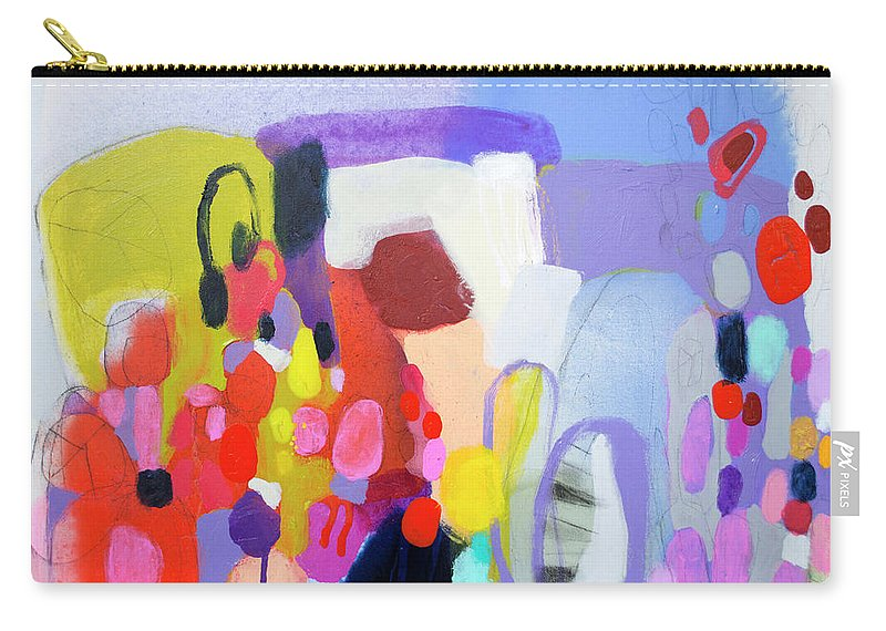Abstract Carry-all Pouch featuring the painting On My Mind by Claire Desjardins