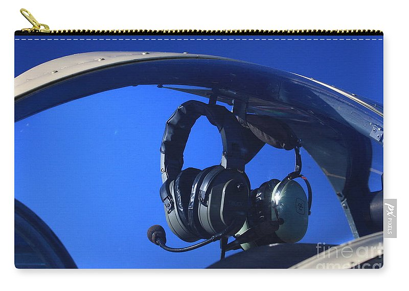 Aircraft Carry-all Pouch featuring the photograph On Standby by Karol Livote