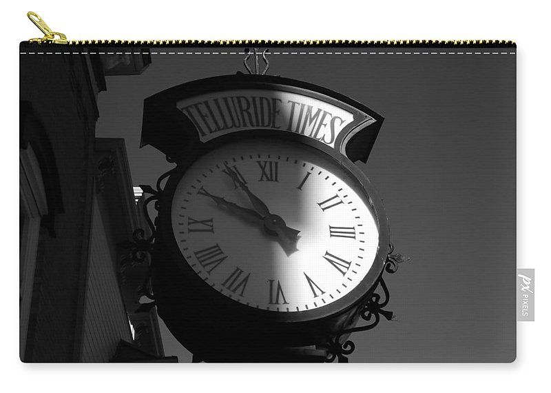 Telluride Colorado Carry-all Pouch featuring the photograph On Telluride Time by David Lee Thompson