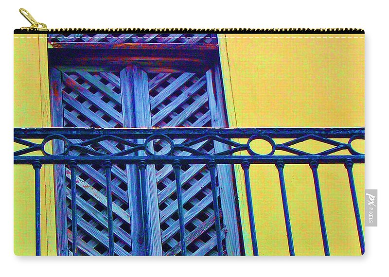Balcony Carry-all Pouch featuring the photograph On The Balcony by Debbi Granruth