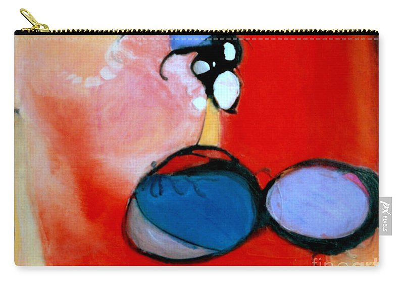 Abstract Carry-all Pouch featuring the painting On The Ball by Marlene Burns