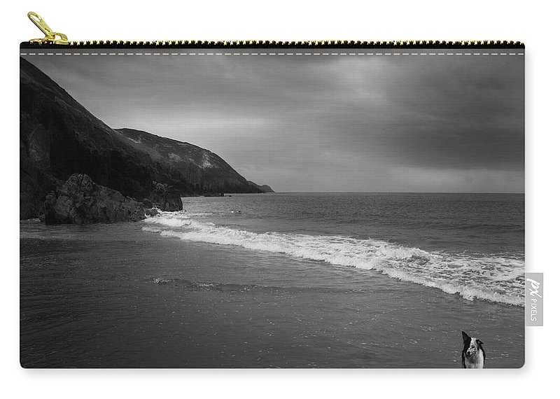 Beach Carry-all Pouch featuring the photograph On The Beach by Angel Tarantella