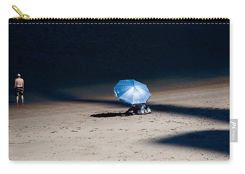 Beach Carry-all Pouch featuring the photograph On The Beach by Dave Bowman
