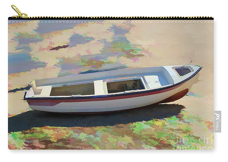 Boat Image Carry-all Pouch featuring the photograph On The Beach Mykonos Greece by Tom Prendergast