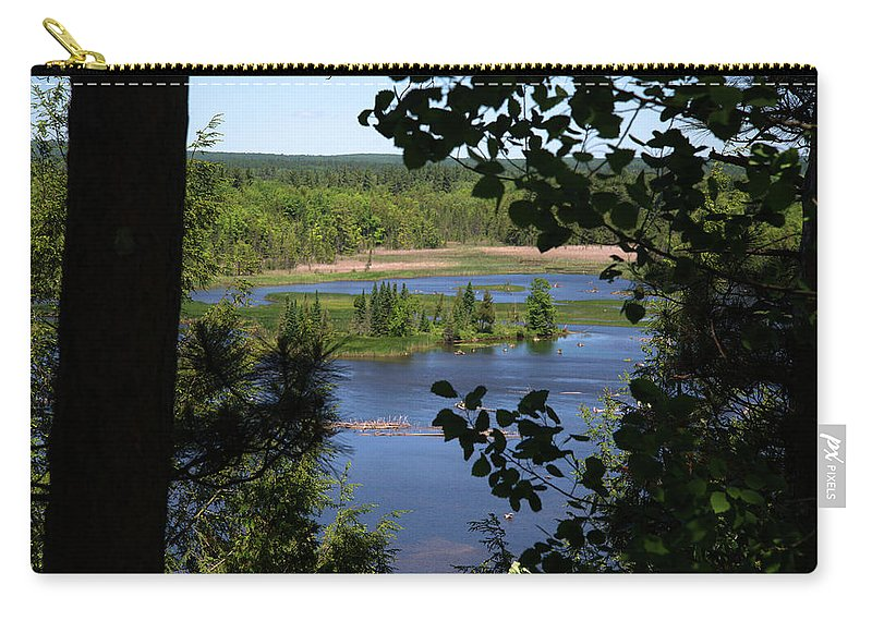 Au Sable River Carry-all Pouch featuring the photograph On The Ben by Linda Kerkau