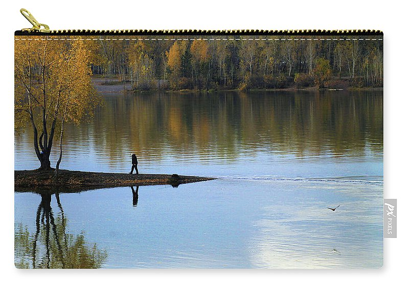 Autumn Carry-all Pouch featuring the photograph On The Bend Of The River by Ekaterina Torganskaia