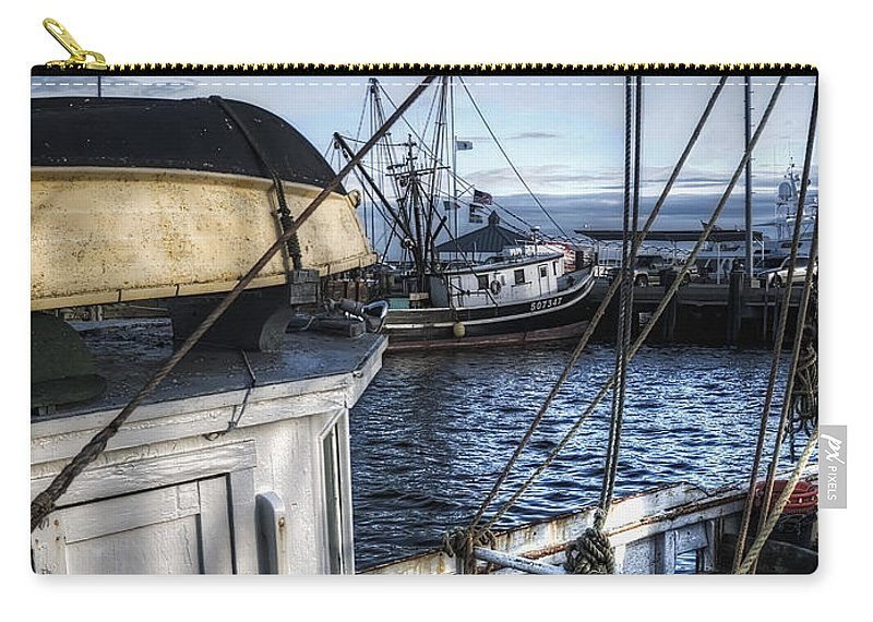 Dock Carry-all Pouch featuring the photograph On The Docks In Provincetown by Tammy Wetzel