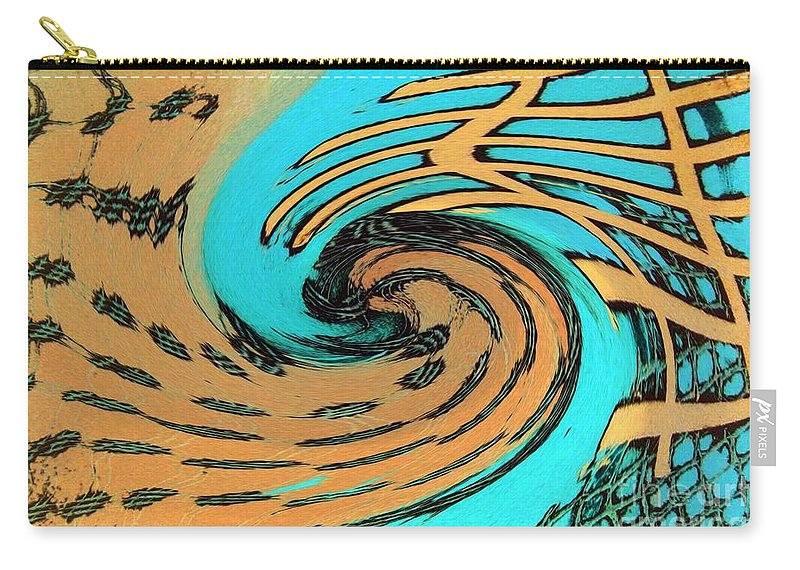 On The Edge Carry-all Pouch featuring the painting On The Edge by Dawn Hough Sebaugh