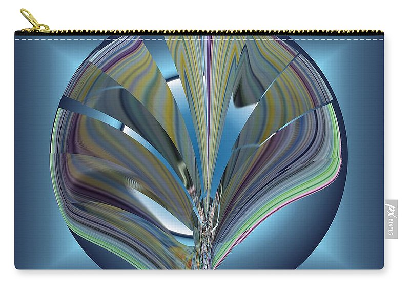 Abstract Carry-all Pouch featuring the digital art On The Half Shell by Tim Allen