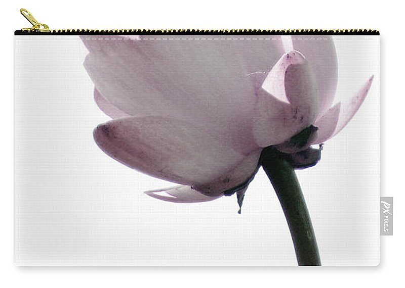 Lotus Carry-all Pouch featuring the photograph On The Inside by Amanda Barcon