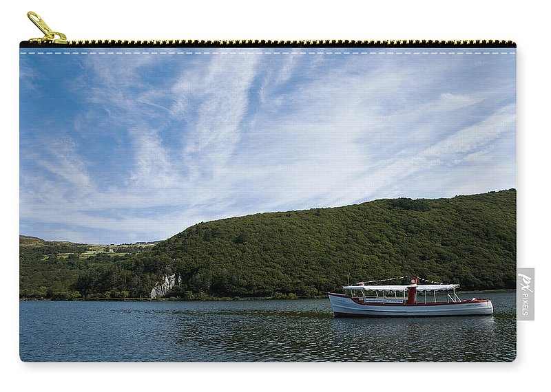 Boat Carry-all Pouch featuring the photograph On The Lake by Svetlana Sewell