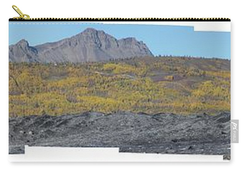 Landscape Carry-all Pouch featuring the photograph On The Matanuska Glacier by Ron Bissett