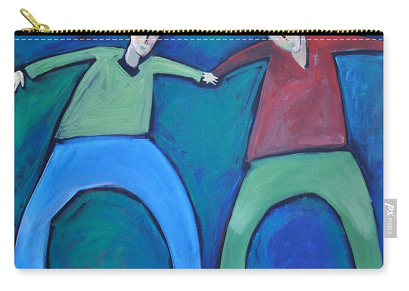 Men Carry-all Pouch featuring the painting On The Precipice by Tim Nyberg