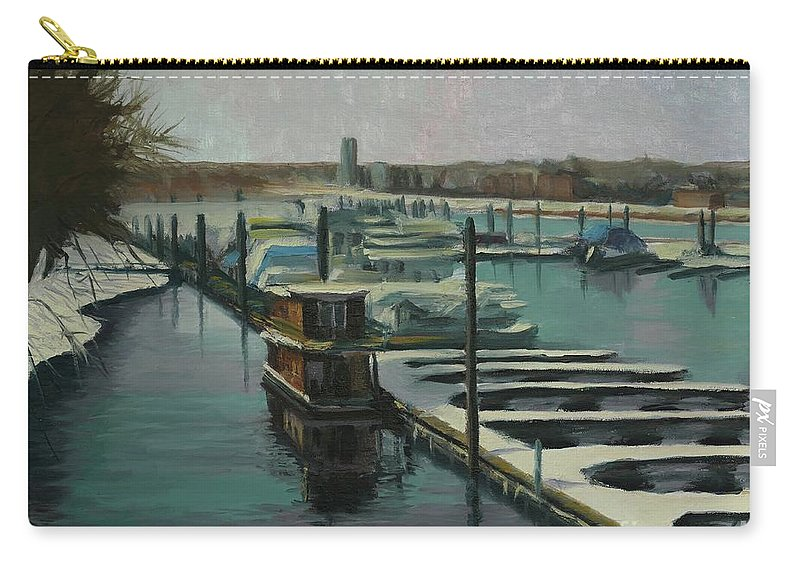 Mississippi Carry-all Pouch featuring the painting On The River by Laura Toth