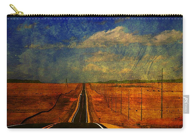 Long Road Carry-all Pouch featuring the photograph On The Road Again by Susanne Van Hulst