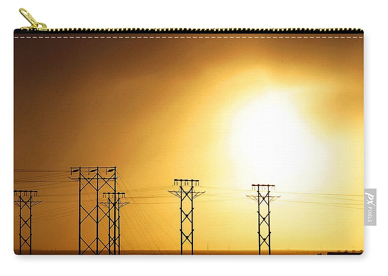 Truck Carry-all Pouch featuring the photograph On The Road by Anthony Jones