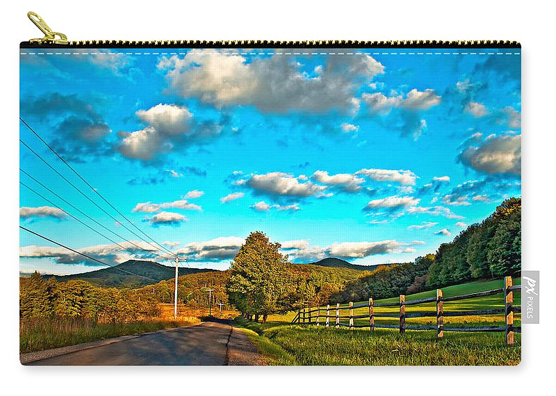 Landscape Carry-all Pouch featuring the photograph On The Road In Wv by Steve Harrington