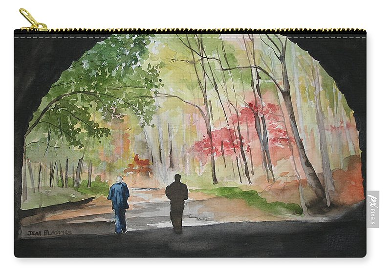 Road Carry-all Pouch featuring the painting On The Road To Nowhere by Jean Blackmer