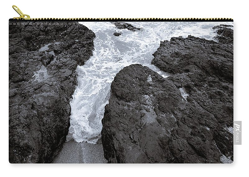 New Zealand Carry-all Pouch featuring the photograph On The Rocks by Dave Bowman