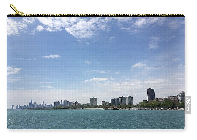 Cityscape Carry-all Pouch featuring the photograph On The Water by Margaret Fronimos