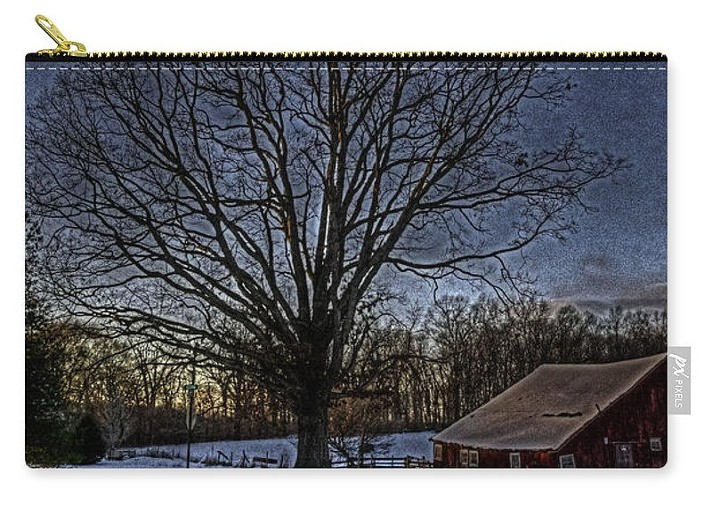 Country Carry-all Pouch featuring the photograph On The Way Home Hdr by September Stone