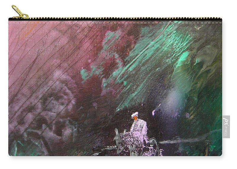Acrylics Carry-all Pouch featuring the painting On The Way by Miki De Goodaboom