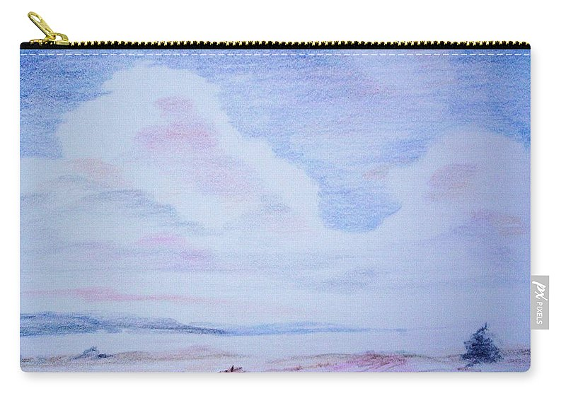 Landscape Painting Carry-all Pouch featuring the painting On the Way by Suzanne Udell Levinger