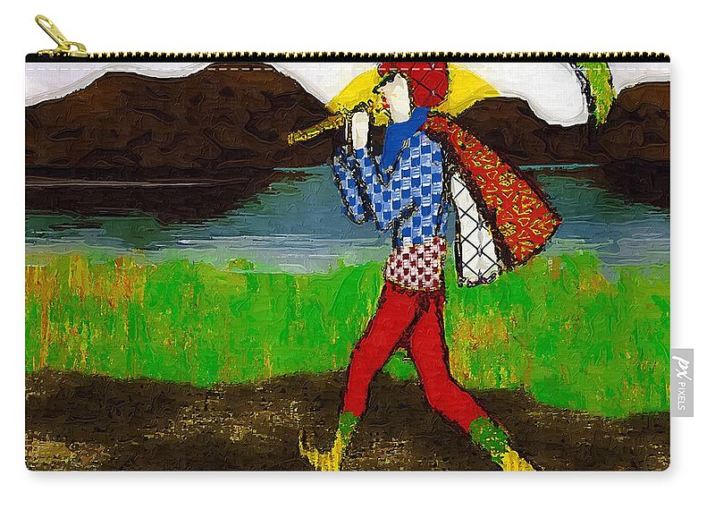 Fairy Tale Carry-all Pouch featuring the painting On The Way To Hamelin Town by RC DeWinter