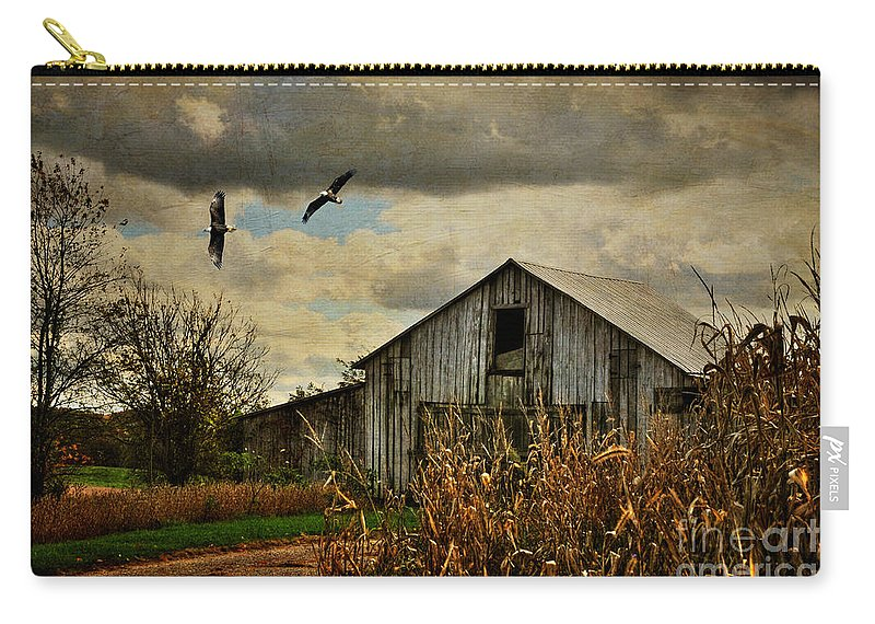 Barn Carry-all Pouch featuring the photograph On The Wings Of Change by Lois Bryan
