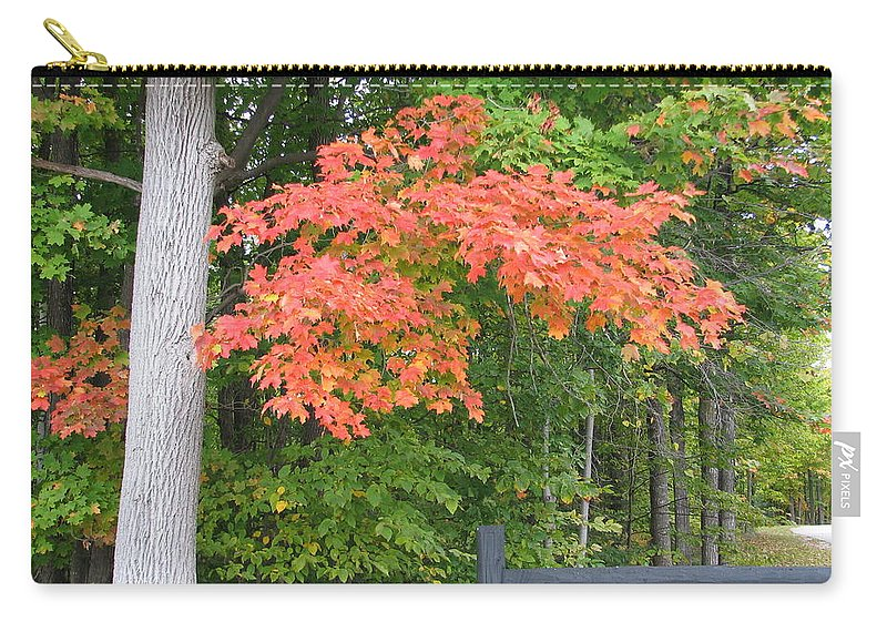 Fall Carry-all Pouch featuring the photograph Onaway by Kelly Mezzapelle