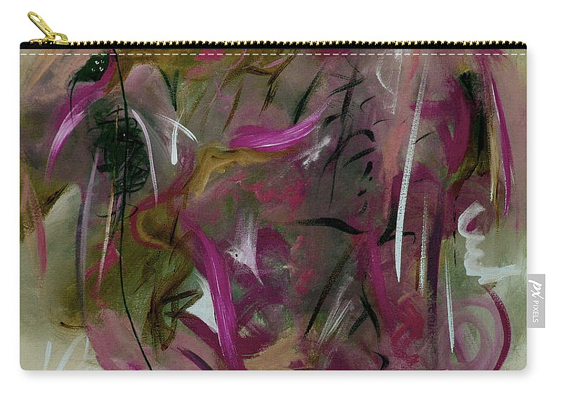Abstract Carry-all Pouch featuring the painting Once by Ruth Palmer
