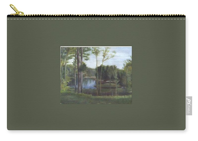 Landscape Carry-all Pouch featuring the painting Once by Sheila Mashaw