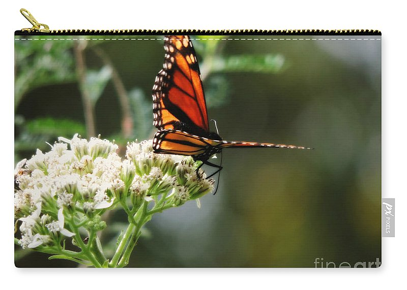 Monarch Butterfly Carry-all Pouch featuring the photograph Once Upon A Butterfly 006 by Robert ONeil
