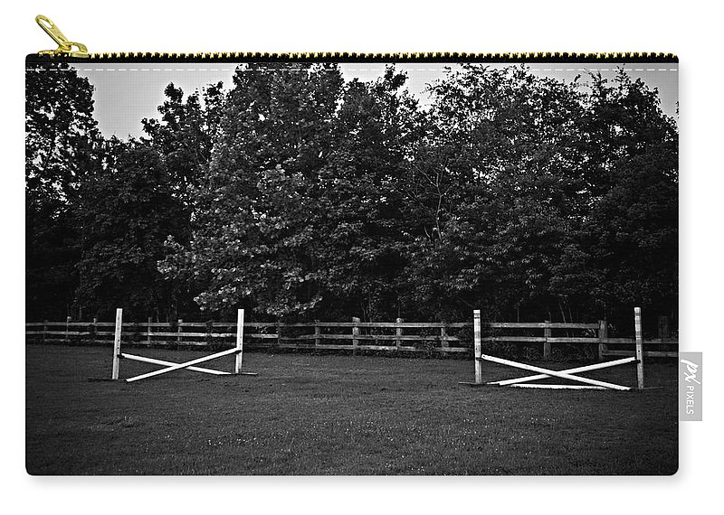 Fences Carry-all Pouch featuring the photograph Once Upon A Time by Hannah Breidenbach