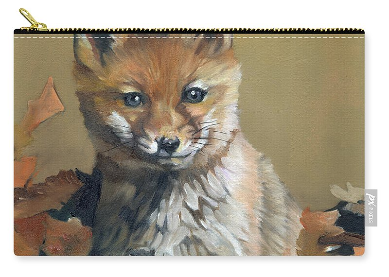 Fox Carry-all Pouch featuring the painting Once Upon A Time by J W Baker