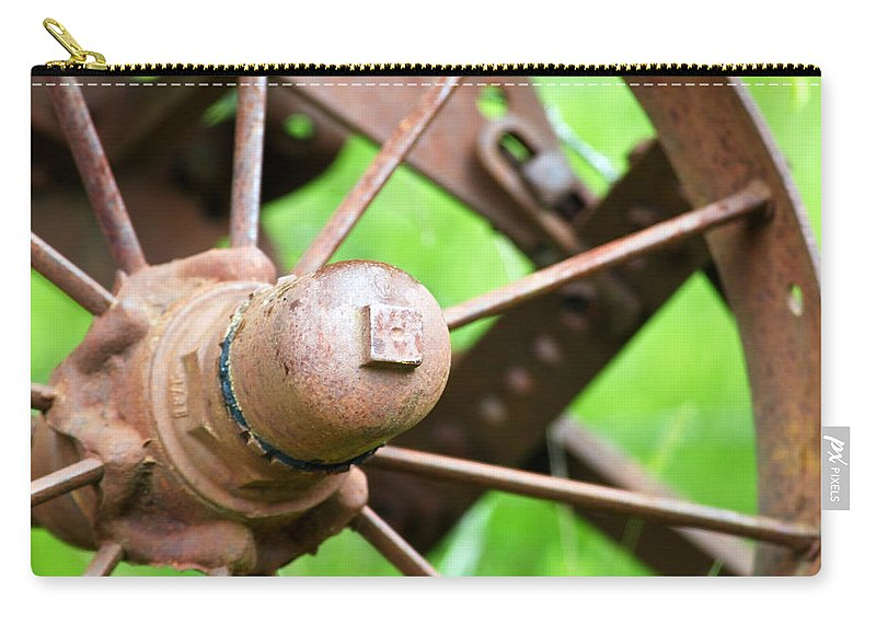 Wheel Carry-all Pouch featuring the photograph Once Upon A Wheel by Randall Ingalls