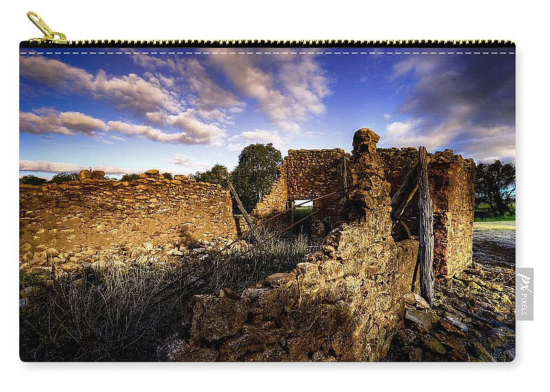 Rustic Carry-all Pouch featuring the photograph Once Was Barn by Wayne Sherriff