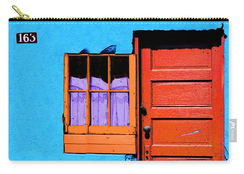 Abstract Carry-all Pouch featuring the photograph One 63 by Paul Wear